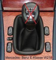 Mercedes E-Klass W210 Echtleder Farbe Schaltsack Schaltmanschette Manschette