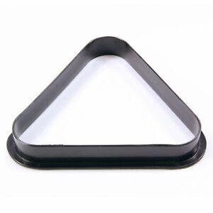 "1 7/8"" 10 Ball BLACK Plastic Snooker Pool Triangle"