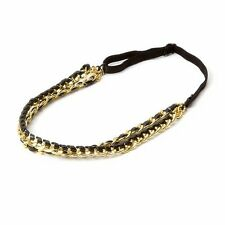 Katy Perry Prism Collection Faux Leather & Chain Link Double Headwrap Headband