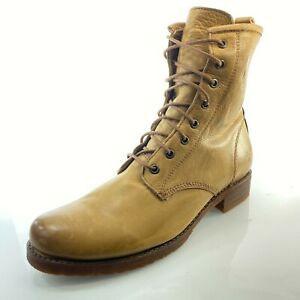FRYE Veronica Combat Whiskey Boots 11 Leather Lace Up