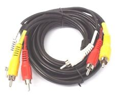 RCA Composite Red White Yellow Stereo Cable Cords for TV to DVD VCR Game