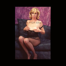 Nude 35mm Transparency Slide Blonde Mature Woman 1980's Pinup G14.19