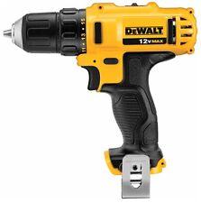 """New Dewalt DCD710B 12 Volt 12V Max 3/8"""" 2 Speed Drill Driver W/ Belt Clip Li-Ion"""