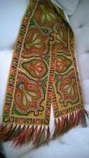 New Listing - 1960's Vtg Emme Colorful Fringed Oblong Paisley Scarf