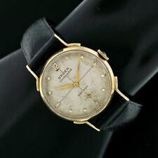 Vintage Gruen Continental 14K Gold 17j Mechanical 29.5mm Fancy Lug Watch Cal 422
