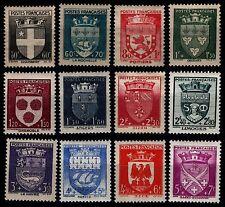ARMOIRIES de France de 1942, Neufs ** = Cote 60 € / Lot Timbres France 553 à 564