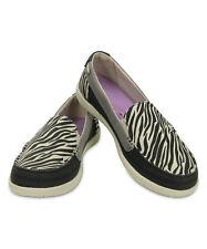 NEW CROCS Black & Stucco Walu Wild Graphic Loafer - Women US 6 Standart fit