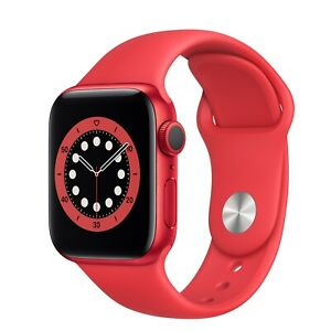 NEW APPLE Watch Series 6 32GB Red Aluminium Case With Red Sports Band 40MM GPS