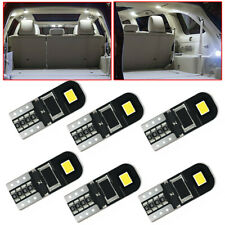 10x T10 W5W LED Car Interior License Plate Light CANBUS Light Bulbs Accessories