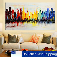 Modern Unframed Abstract City Canvas Painting Print Picture Home Room Wall