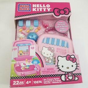 Hello Kitty Mega Bloks Ice Cream Parlor Create & Decorate Figure Set