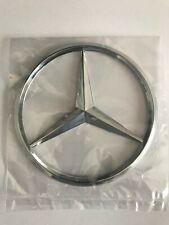 Mercedes-Benz Silver Logo Badge Rear Boot Emblem Class C B E S GLK ML 90mm