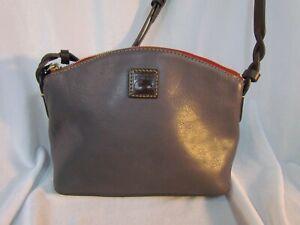 Dooney & Bourke Florentine Bag Leather Penny Crossbody Handbag SLATE Grey