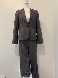 Giorgio Armani Collezioni Grey Wool Silk Blend Suit Sz 10