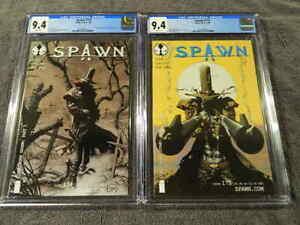 2008 IMAGE Comics SPAWN #174 & #175 - 1st & 2nd ap of GUNSLINGER SPAWN - CGC 9.4