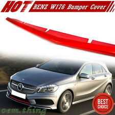 Painted Red Metal Mercedes BENZ A-Class W176 5DR Front Lip Spoiler Cover 15 A250