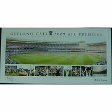 GEELONG CATS 2009 AFL PREMIERSHIP PANORAMIC HAND SIGNED TOM HARLEY LIMITED PRINT