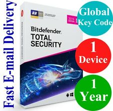 Bitdefender Total Security 1 Device /1 Year (Unique Global Activation Code) 2019