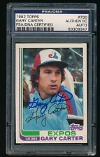 1982 TOPPS GARY CARTER PSA/DNA AUTHENTIC AUTOGRAPH; EXPOS #730