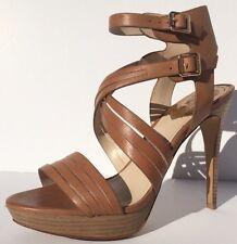 Vince Camuto Jistil Fudge Soft Calfskin Stilettos Sandals Womens Heels  Size 9
