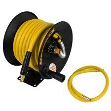 Air Compressor Hose Reel 3/8 in x 50 ft Rubber Pneumatic 300 PSI Workshop Garage