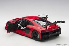 Autoart AUDI R8 LMS PLAIN COLOR VERSION GLOSS RED 1/18 Scale New! In Stock!