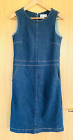 Thought Braintree Ladies Dress 8 Pockets Denim Pinafore Casual Dark Winter