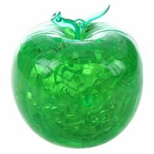 Green for apple Shaped 3D Crystal Puzzle Sculpture Novelty Gift PK K3A3