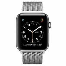 Apple Watch Series 2 42mm Stainless Steel Case Silver Milanese Loop -...
