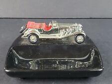 LESNEY MATCHBOX CAR 1928 Mercedes 36/220 Tourer Chrome CERAMIC Coin Ash TRAY
