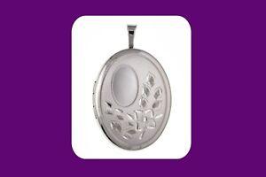 Sterling Silver Flower Locket Oval 20 x 25mm 925 Hallmark All Chain Lengths
