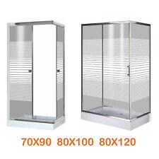 Cabina Box doccia angolare ad angolo vetro cristallo serigrafato scorrevole 5mm