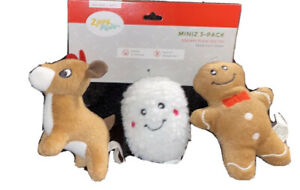 ZippyPaws - Christmas Santa's Friends 3 Pack - Squeaky Plush Dog Toy