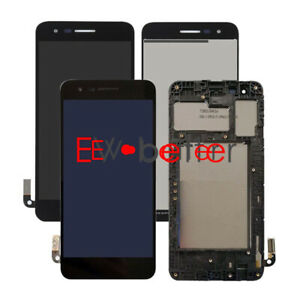 For AT&T LG Phoenix 4 LM-X210APM LM-X210 LCD Display Touch Screen Assembly±Frame