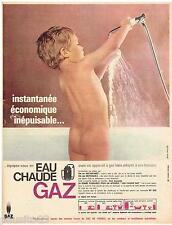 PUBLICITE ADVERTISING 105  1965  EAU CHAUDE au GAZ