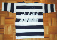 T Shirt Vintage 80s Holland America Noordam Cruise Ship Striped Single Stitch M