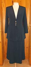 JACQUES VERT petrol bluegreen skirt suit jacket Mother of the Bride Wedding 1214