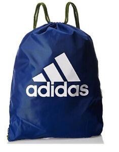 Adidas Gym Sack Bag Drawstring Zip Pocket DZ8291 Blue Brand New