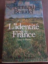 Fernand Braudel: L'Identité de la France, espace et histoire/ Arthaud-Flammarion