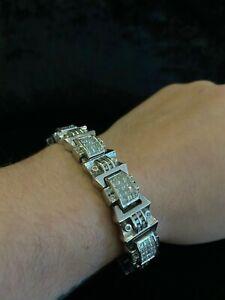 "9K White Gold Diamond Bracelet - 9""."