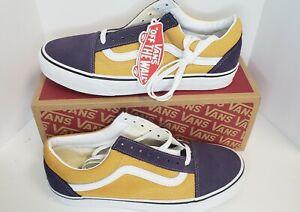 Vans Old Skool Skate Shoes Size 11 Purple Gold Lakers LSU Tigers