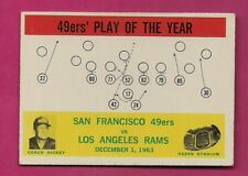 1964 PHILADELPHIA # 168 49 ERS PLAY OF THE YEAR EX-MT CARD (INV# A5001)