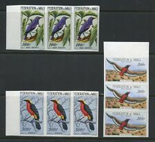 MALI BIRDS  SCOTT#C2/4  IMPERFORATE STRIP OF THREE  MINT NEVER HINGED