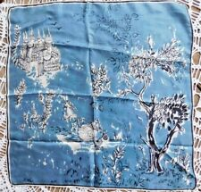 VINTAGE 1950's  SILK SCARF MAGIC CASTLE HORSE AND CARRIAGE