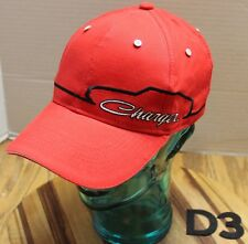 RED DODGE CHARGER HAT EMBROIDERED STRAPBACK ADJUSTABLE EXCELLENT CONDITION D2