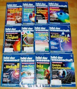 12x Bild der Wissenschaft 1999 1-12 Jahrgang Sammlung Zeitschrift Science Hefte