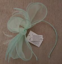 BNWT NEW Lovely Pale Green Fascinator Hairband, Feathers - Claire's Accessories