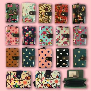 Kukubird Women Ladies Wallets Purses Owl Polka Dot Butterfly Design, P&P in UK