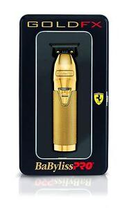 BaByliss PRO Hair Trimmer FX787G GOLDFX Skeleton Outlining T-Blade Barber NEW