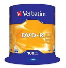 100 Verbatim Rohlinge DVD-R 4,7GB 16x Spindel